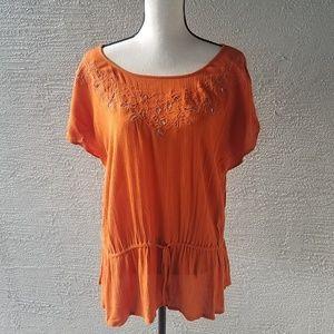 Ava & Viv Orange Sleeveless blouse